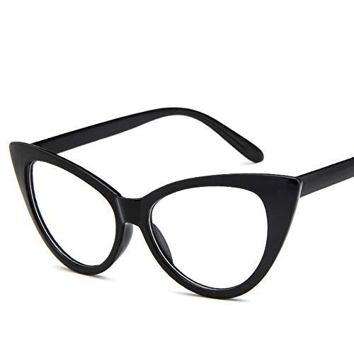 SHANGYUN Gafas de Sol de Moda Gafas de Sol para Mujer Gafas de Sol Retro para Mujer Gafas de Sol para Mujer Espejo Transparente