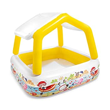 Intex Sun Shade Inflatable Pool 62  X 62  X 48  for Ages 2+