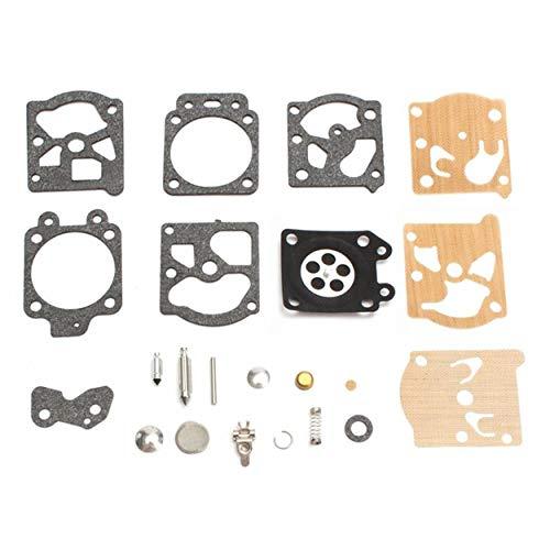 Lodenlli Kit de reparación de carburador K20-WAT, juego de juntas de herramientas de reconstrucción para accesorios de motocicleta Walbro, piezas de reparación, suministro de carburador de combustible