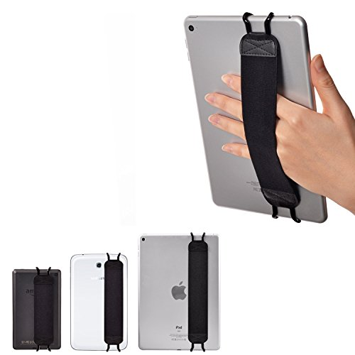 TFY Elastisches Halteband für Tablet & iPad - New iPad (2/3/4) / iPad Mini & Mini 2 & Mini 3 / iPad Air/iPad Air 2 - Samsung Tablet Pcs - Nexus 7 / Nexus 10