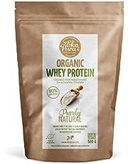 Organic Whey Protein - Purely Natural (Bio wei eiwitten) - 80% Eiwit, 500 gram, van Gras Gevoerde Koeien, zonder Toevoegingen