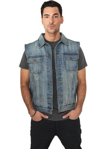 "Urban Classics Jeansweste \""Denim Vest\"", Größe: XXL, Farbe: lightblue"