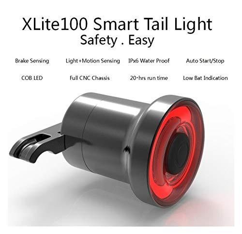 SSXPNJALQ Luces de Freno de la señal de Giro del Sensor de la Bicicleta con Sensor Inteligente USB Xlite100 Road MTB MTB Bike Sillín Recargable Trasero Luz Inteligente