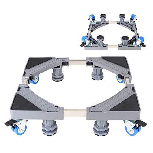 EEUK Plataforma con Ruedas para Nevera, Muebles telescópicos de Base Ajustable Multifuncional con 4 Ruedas de Goma de Bloqueo para Secadora, Lavadora y refrigerador