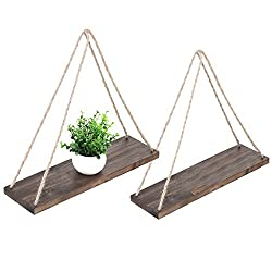 Wood Hanging Floating Shelves for wall decor