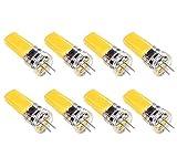 Bulbo Alto Brillo 5W G4 LED,Bi Pin Base,de Larga duración Regulable JC Tipo de Gel de Silicona de la lámpara para Debajo del gabinete, luz del Duende malicioso,Paisaje iluminación al Aire libr