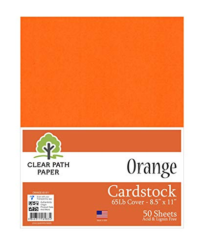 Orange Cardstock