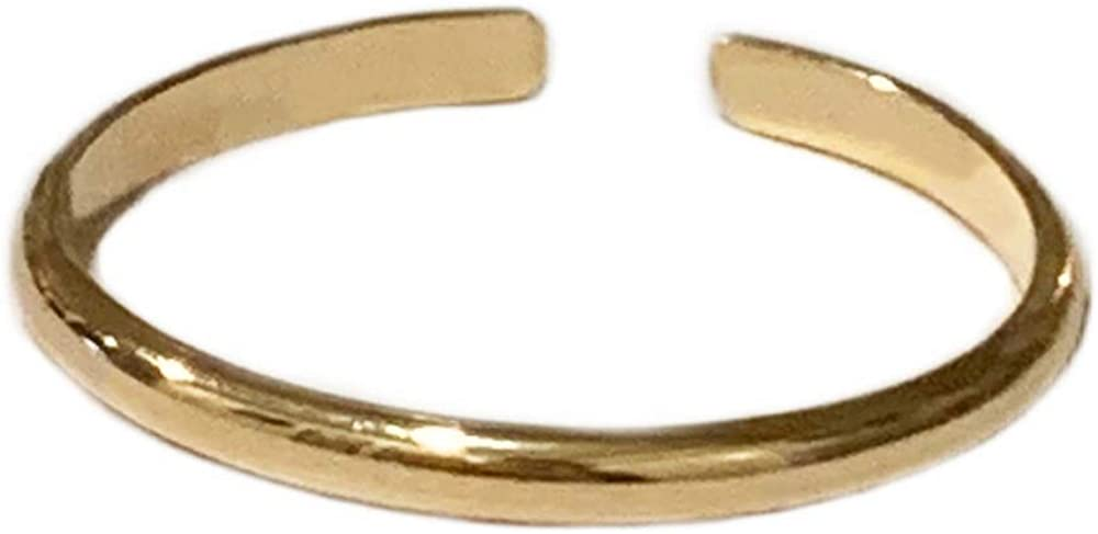 Toe Rings & Things | 1mm Half Round 14k Gold Fill | Adjustable Ring for Foot or Knuckle for Women, Men or Teens | Fits a Variety of Sizes