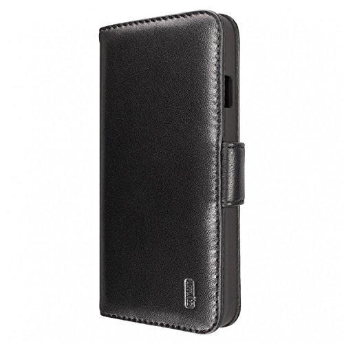 Artwizz SeeJacket Leather Handyhülle designed für [iPhone 6 Plus / 6S Plus] - Schutzhülle zum Aufklappen aus Leder mit Magnetverschluss - Schwarz