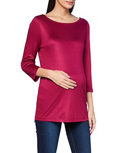 ESPRIT Maternity Damen 3/4 sl T-Shirt, Creamy Berry-684, M