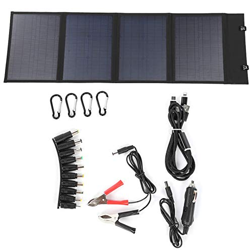 JALAL Solar Panel, 120W Foldable Solar Cell Panel Portable Charger with 20A Controller for Phone Power Bank Cameras
