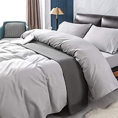 Newspin Bed Sheets Set, 1800 Series Soft Sheets Thicken Durable Double Brushed Microfiber Wrinkle Resistant Bedding Sheet fit 16 inch Deep Pockets Mattress(4 Piece Full Sheet Set,Silver)