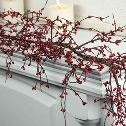 Farmhouse Christmas Decor berry garland.