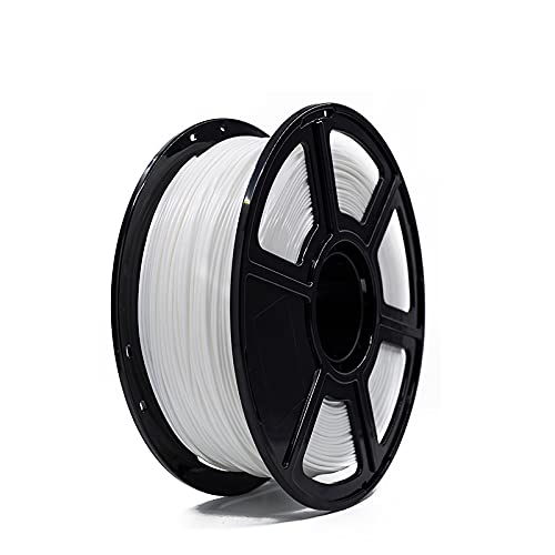 MUYUNXI 3d Printing Materials 3d Printer PLA Filament 1.75mm For 3D Printer Dimensional Accuracy +/- 0.02mm 1kg 1 Spool(Color:white)