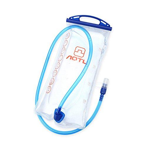Aogolouk 2L Wide Mouth eau Vessie Hydration Pack pour l'escalade, randonnée, cyclisme Transparent
