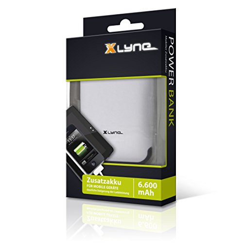 XLYNE Powerbank 6.600 mAh │Zusatzakku für mobile Geräte (Smartphone, Handy, MP3-Player, Navigationsgeräte)