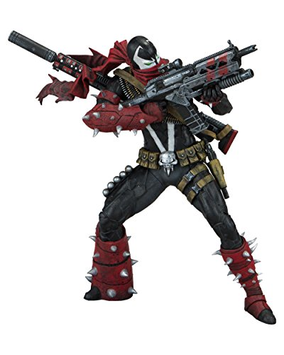 Spawn 99423 Commando - Figura de accin, Color Rojo y Negro, 7 Pulgadas