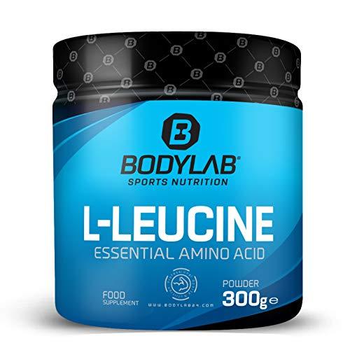 Bodylab24 L-Leucin Essential Amino Acid 300g / reines L-Leucin Pulver ohne weitere Zusätze / Pulversupplement für die Proteinversorgung / Geschmacksneutral, ohne Zuckerzusatz, Gluten- und Laktosefrei