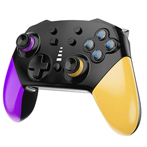 JALVDE Switch Pro Controller for Switch Comfortable 1200mAh Long-Time Play Wireless Gamepad Support Motion Control Dual Vibration Turbo Function