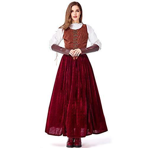 Dames Halloween kostuum Roodkapje kostuum met cape volwassen jurken voor Halloween carnaval rollenspel kostuum partij nachtclub kostuum cosplay jurk koningin pak,L