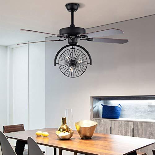 Aohuada Ventilador de techo de palma de 52 pulgadas luces de 3 marchas mando a distancia luces de calidad prémium tropical ventilador decorativo para el hogar o el restaurante con forma de bic