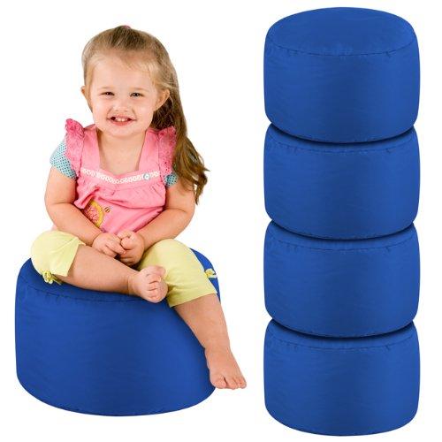 Pack of 5 Kids Bean Bags - 5 Childrens Seat Pods - Indoor Outdoor BeanBag (Blue)