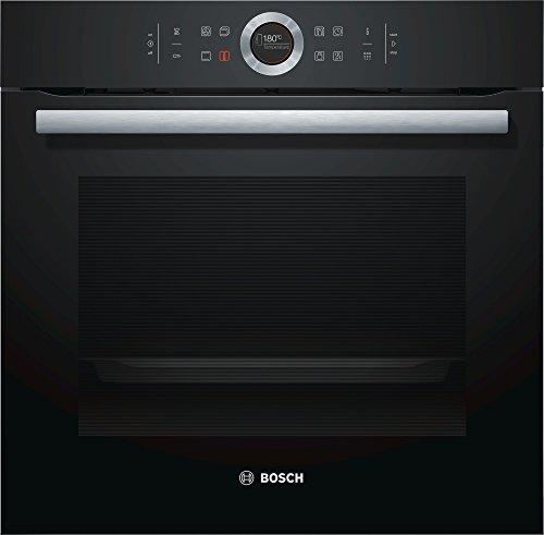 Bosch HBG675BB1 Serie 8 Backöfen Elektro / Einbau / 71 L / vulkan Schwarz / 4D Heißluft Plus [Energieklasse A+]