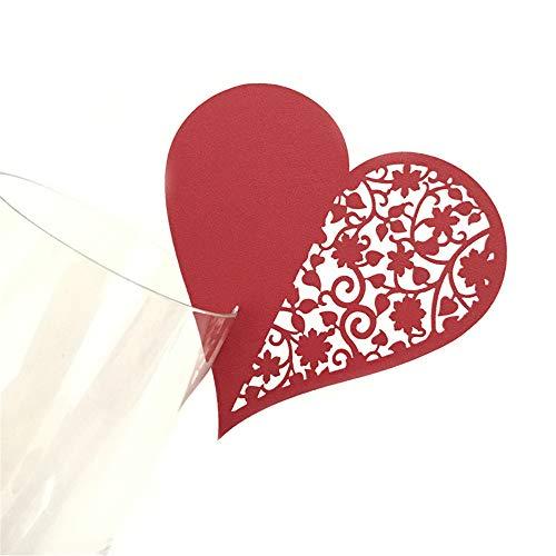 Amphia Weihnachten Dekoration - Herz Förmige Tags Hochzeit wünschen Baum Handwerk Etiketten Karten HerzFörmige Tasse Karte,Wunsch-Karte Liebes-Platz-Karte