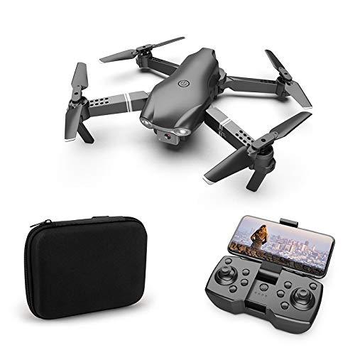 PGZLL Drone Plegable De Altura Fija De PresióN De Aire De FotografíA AéRea De Control Remoto, Quadcopter De Control Remoto [Color: Negro, Plateado. CáMara Dual 4k]