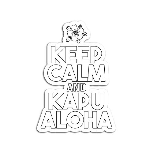 Decal Stickers for Laptop Sticker for Tumblers Keep Calm and Kapu Aloha Waterproof Decal Perfect for Phone Water Bottle Vehicles (5 Pcs/Pack)
