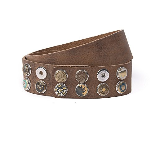 Noosa Gürtel Belt Classic Wide midbrown, Grösse:85 cm