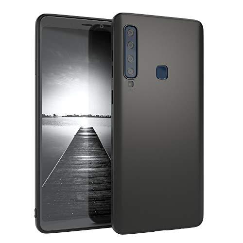 EAZY CASE Handyhülle Silikon mit Kameraschutz kompatibel mit Samsung Galaxy A9 (2018) in schwarz matt, Ultra dünn, Slimcover, Silikonhülle, Hülle, Softcase, Backcover
