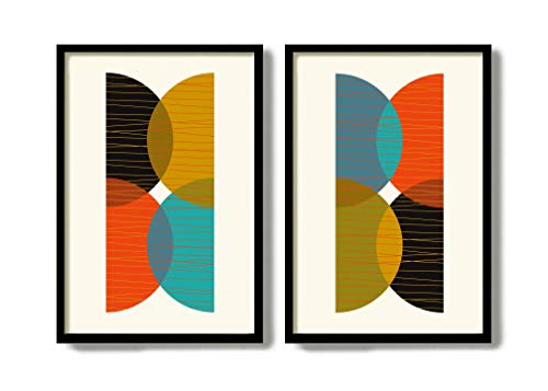 Mid Century Modern Art Print Wall Art Grouping Abstract Print Set Living Room Decor Set of 2 Prints Modern Design Kitchen Decor DexMex