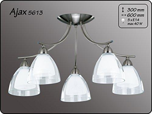 Moderne plafondlamp 5x40W/E14 AJAX 5613 Alfa