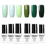 ROSALIND 6 pezzi 7ml di ammollo gel Smalto per unghie UV LED verde vernice semipermanente per manicure