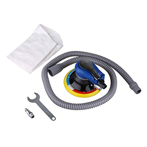 Yunn Typ Pneumatic Disc - Macchina per sabbiatura, Air Random Orbital Sander Vacuum 6, 150 mm, strumento di alimentazione manuale per lucidatura