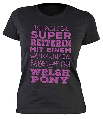 Paarden shirt voor vrouwen dames T-shirt Welsh Pony paard ruiterster spreuken fun paardenmotief