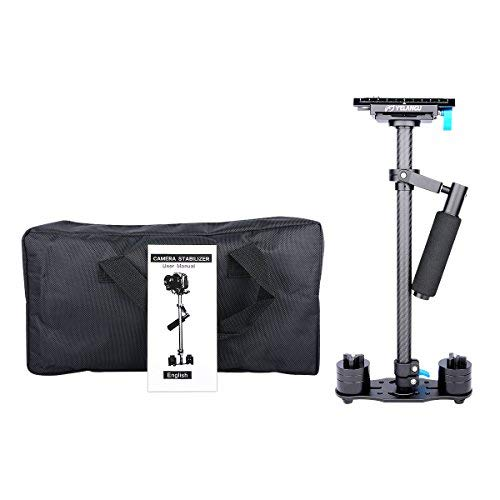 YELANGU Verstellbarer S60T Kohlefaser-Schlauch, 60 cm, Handheld-DSLR-Videokamera, Stabilisator, Kompakt-Steadycam Mini Steady Cam