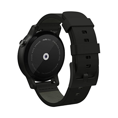 Motorola Moto 360 2nd Gen. Mens 42mm Smartwatch, Black with Black Leather 4