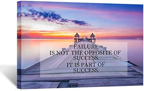 Kreative Arts Motivational Quotes Motto Inspirational Success Teamwork Canvas Stretched Wood product image