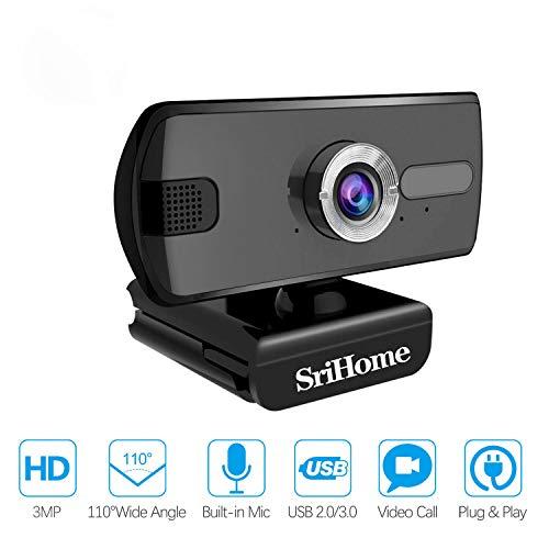 Webcam per PC 1080P, Webcam per PC Laptop Desktop SriHome SH039,...