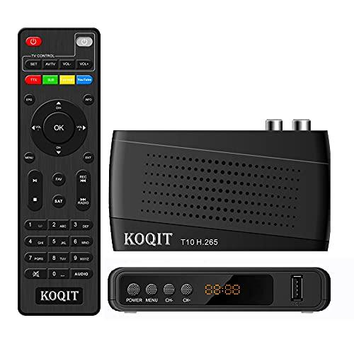 Koqit DVB-T2 - Decodificador digital terrestre DVB T2 italia TV Box DVB-C H.265 HEVC 10 bits decodificador Europa SET-TOP Box Meecast memoria TV mando universal M3U