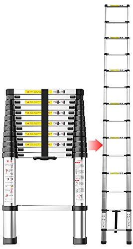 4.9M Scala Telescopica Multiuso Alluminio Scala Telescopica Portatile Allungabile per Interni ed Esterni