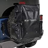RAYTEEN Black Sturdy PVC Made 23Gallon/88L Spare Tire Trash Bag, suit for Trucks SUV Off-road Outdoor&Camping & Tools Organizer