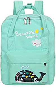 Da.Wa Canvas Backpack Large Capecity Backpack Loptop Bookbag for Children Students