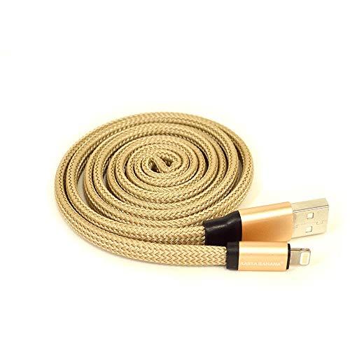 ラスタバナナLightningスマホ/タブレット充電・通信USBケーブルUZUMAKIゴールドくるくる戻る2.4Aライトニング1mR10CAAL2A02GD