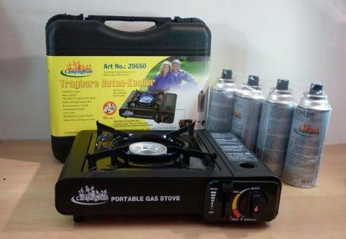 NoName Koffer   4 Gaskartuschen Bild