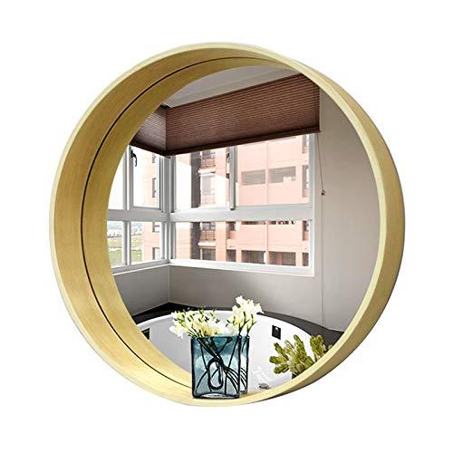 Bathroom mirror Miroir de Salle de Bains, Miroir de courtoisie Mural Ronde encadrée, évier Chambre Miroir Dressing, Couleur Bois HD 50 / 70cm