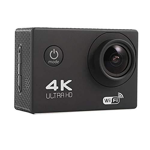 N\C Cámara de acción 4K, cámara impermeable Ultra Hd Wifi, cámara subacuática de gran angular de 170 ° Hd, vídeo de pantalla HD de 2,0 pulgadas y kit de accesorios