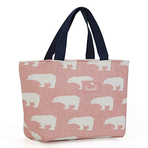 MAXTOP Insulated Lunch Bags for Women Kids Lunch Tote Handbag Leakproof Water Resistent Thermal Cooler Bag for Outdoor School Office Travel Work (Pink Bear)